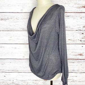 Free People Palmer cowl knit top in shark size XS